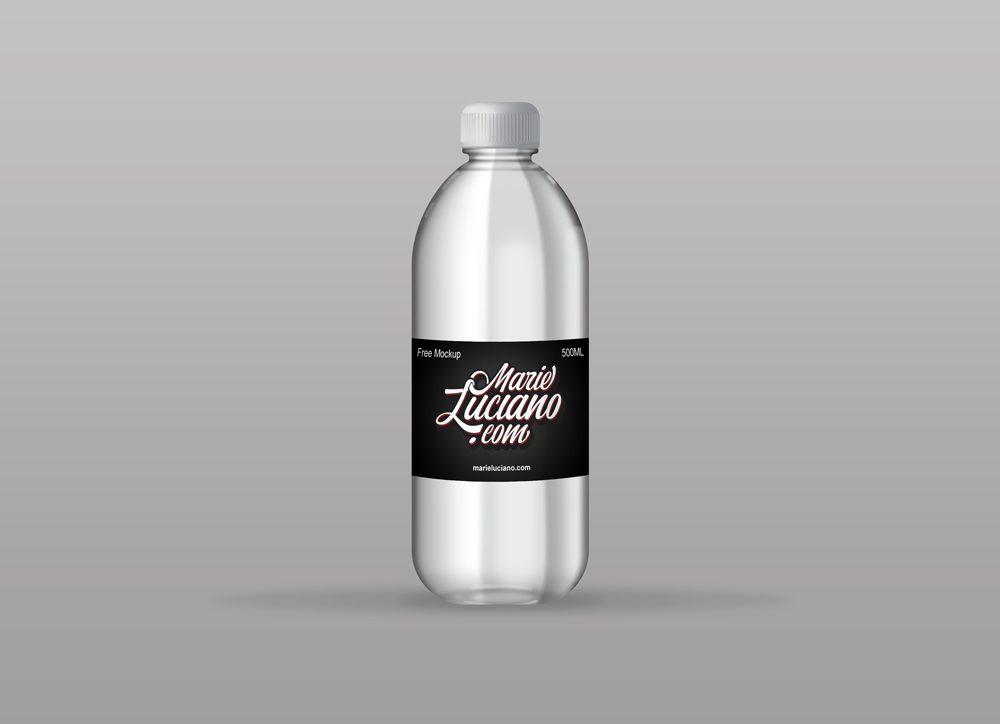 Plastic Water Bottle Mockup Psfiles