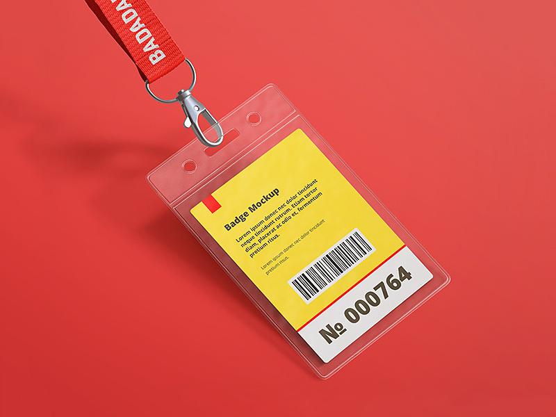 Free Name Tag Id Badge Mockup Psd Psfiles