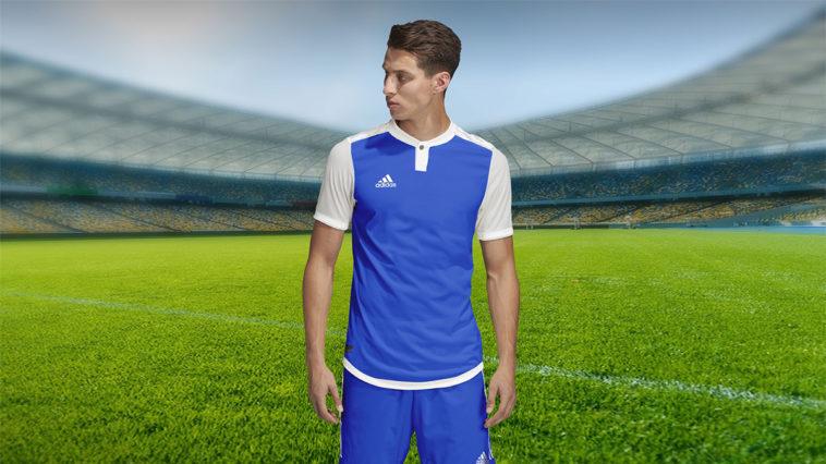 Free Adidas Style Soccer Jersey Mockup PSD