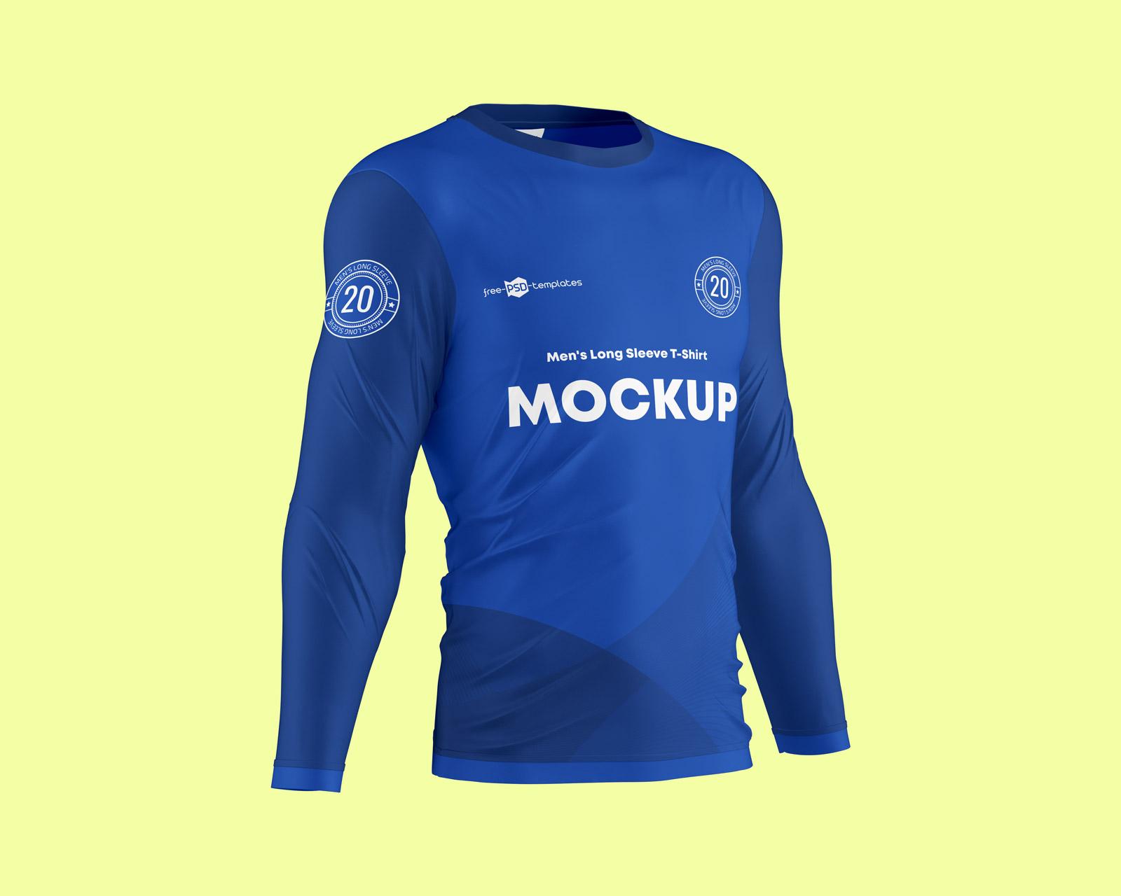Full Sleeve Jersey Mockup PSD Set 01